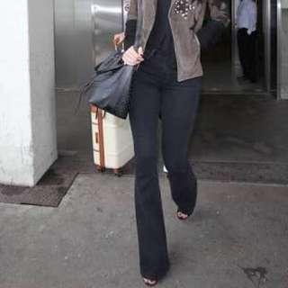 Paige jeans flares black
