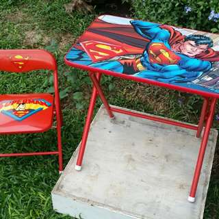 Superman Folding Table and Chair