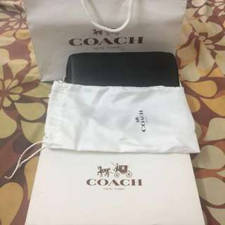 Authentic coach long wallet year end sale