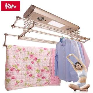 Brand New. The new electric drying racks lift multi - function balcony remote control intelligent automatic ceiling stretching clothes drying machine.  新款电动晾衣架升降多功能阳台遥控智能自动吊顶伸缩晒衣杆机 晾 .