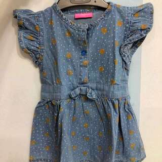 Kid denim dress