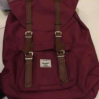 Maroon little america herschel bag