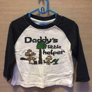 Roots 二手男童衣3-6個月薄長袖