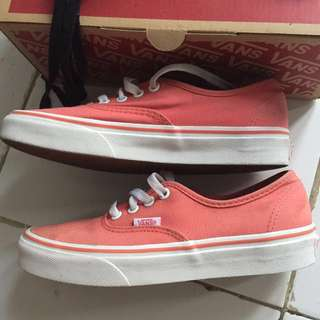 Vans peach shoes authentic