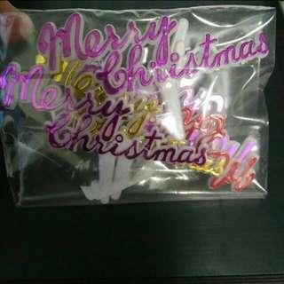 Merry Christmas Xmas Cake Cupcake Topper