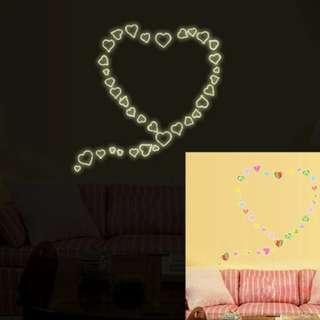 GTD Hearts Wall Sticker (Y0020) 21*29.7
