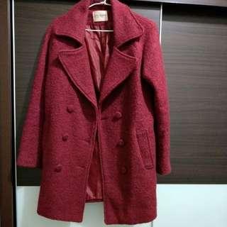 🚚 深紅色大衣