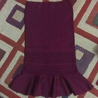 Skirt strech maroon