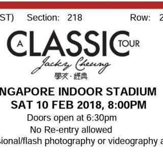 Jackie Cheung Classic Tour Singapore 2018