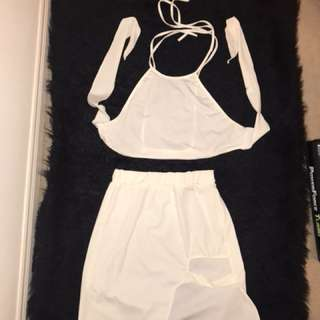 White 2 Piece Skirt and Top
