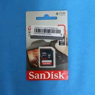 《SANDISK》ULTRA 64GB 記憶卡 48MB/s