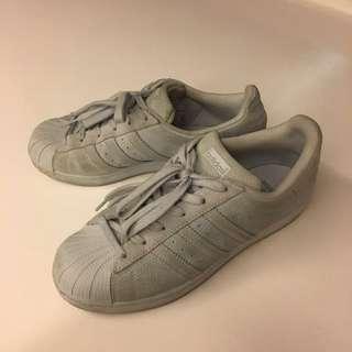 Adidas Superstars in Gray (rare)