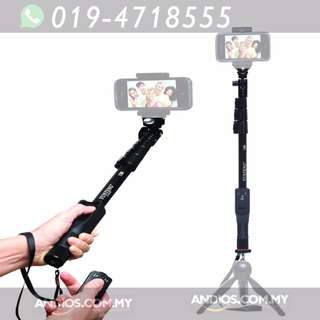 In-Stock✔Yunteng YT-1288 Selfie Monopod Extendable Pole
