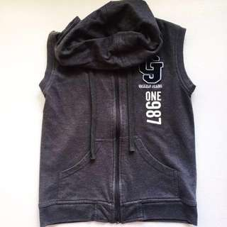 Grizzly Collection Outerwear Gray Hoodie Vest X-Small