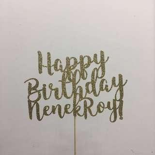 Customised Birthday Cake Topper