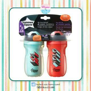 ‼️NEW‼️TOMMEE TIPPIE Girls Insulated Sipper Tumblers12m+ 9oz