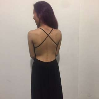 Black Bare Back Dress