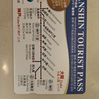 阪神電車 one day pass 共7張