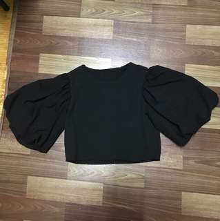 Puffy sleeve crepe Top