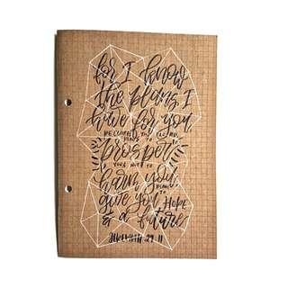 🍁 customisable a5 muji notebooks