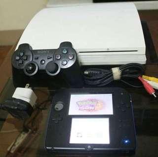 Playstation 3 + Nintendo 2DS