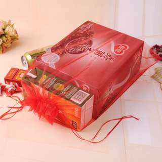 25pcs Organza Drawstring Pouch Bag For Packaging & Storage In Red (35cmx27.5cm)