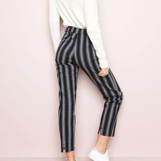 brandy melville black striped tilden pants