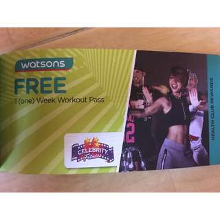 FREE 1 ( WEEK ) WORKOUT PASS- Celebrity Fitness