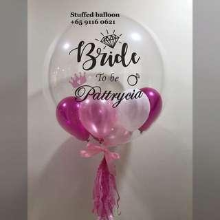 Helium Balloons, bride balloon, bride to be, customized balloon, hens party, bachelor party balloon