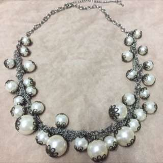 Vintage Dramatic Statement Pearl Necklace