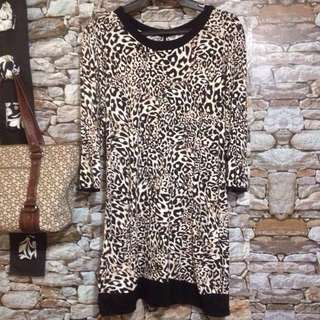 Animal Print Long Top by Cambra Styles