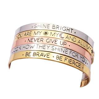 Motivational Quotes Bangles #Huat50Sale