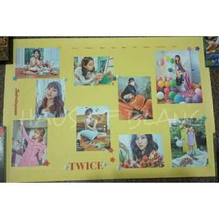 (Free Shipping) TWICE Twicetagram Official Poster (Yellow)