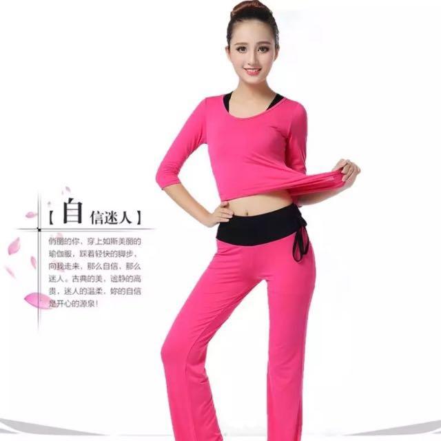 (全新)瑜珈服運動健身服3件式