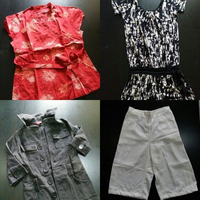 3pcs = 100k Atasan/Top/Blouse/Bawahan/Celana/Rok