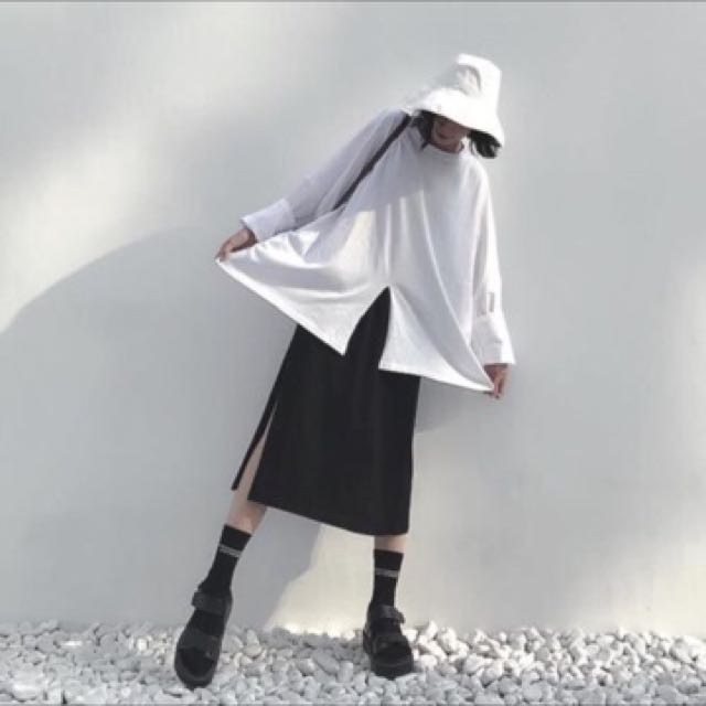 顯瘦開叉半身裙