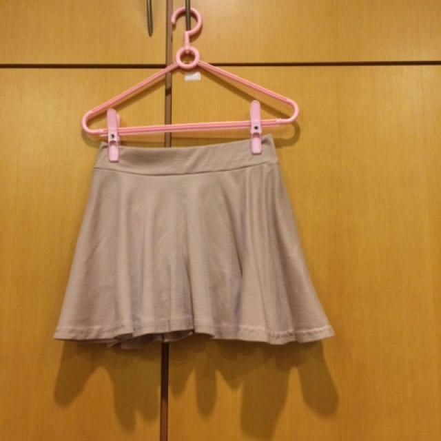 藕粉色傘狀短裙(內有安全褲)#好物任你換