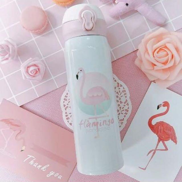 小公主♥超美攜帶方便不鏽鋼紅鶴保溫杯保溫瓶 500ml
