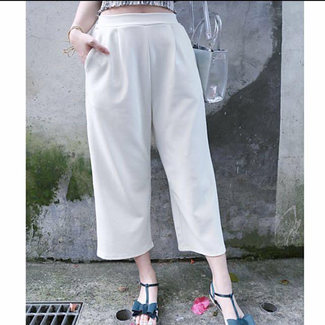 #優惠 西裝白色寬褲