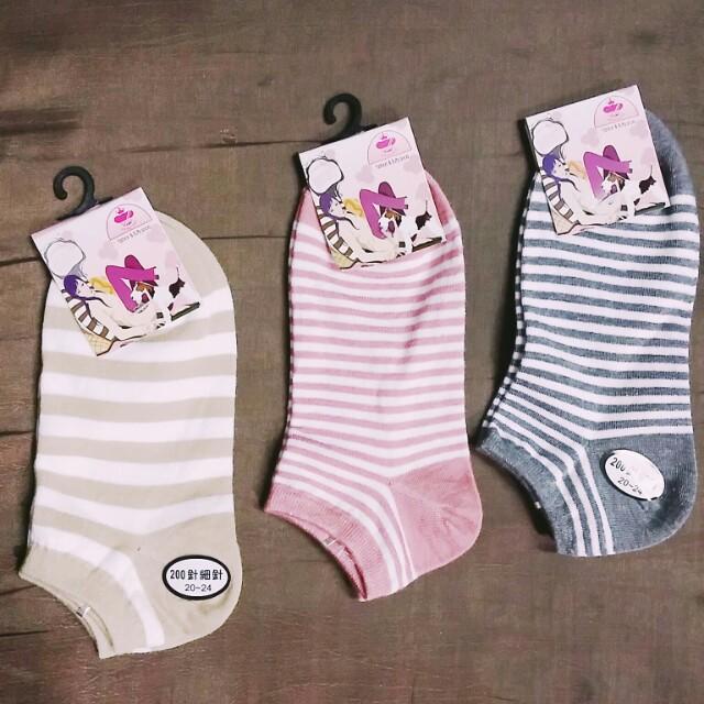 全新:::條紋短襪 三色 #我的女裝可超取