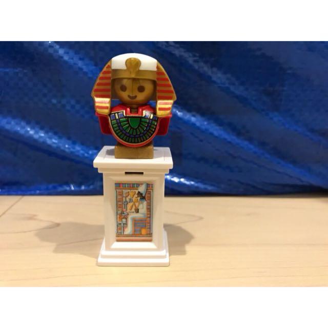 德國 摩比 playmobil 絶版 埃及法老 雕像 立臺