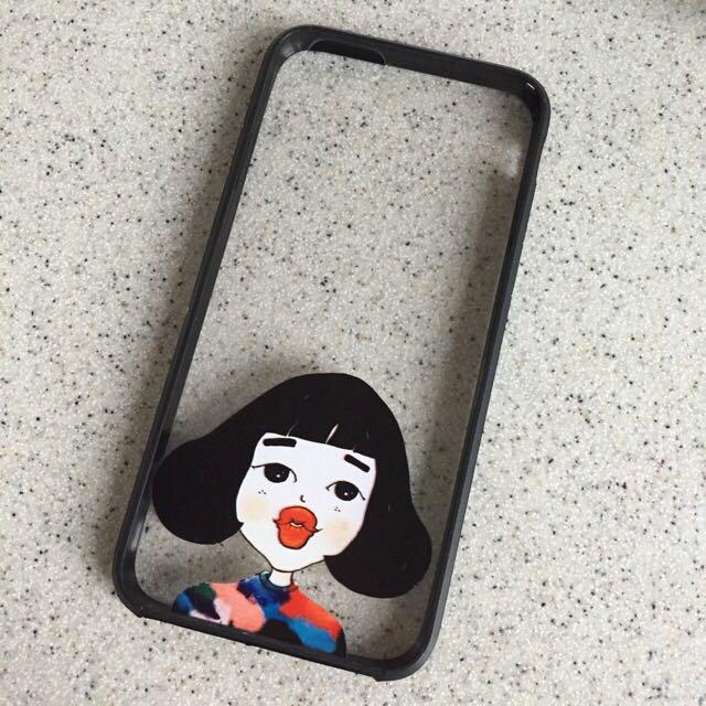 可愛嘟嘴女孩 Iphone 手機殼