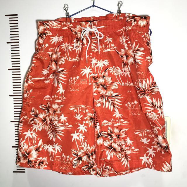 橘色海灘褲 XL