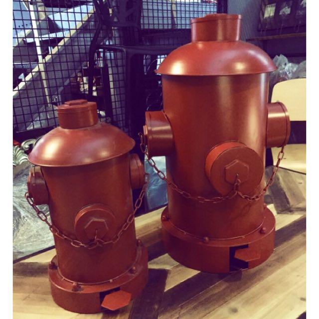 【ABS安伯家】消防栓垃圾桶 LOFT工業風美式法式鄉村仿舊復古咖啡廳酒吧餐廳民宿 店面裝飾酒吧傢俱