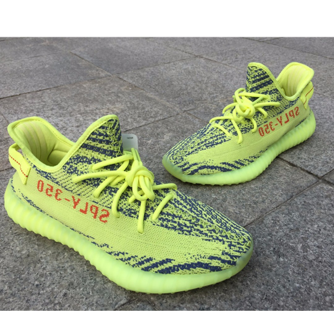 52c080af442a8 Adidas Yeezy Semi Frozen Yellow 350 V2