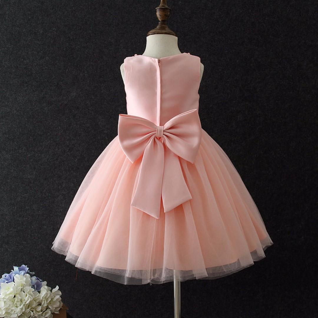 Amelia Pink Party Dress/ Formal Dress/ Birthday Dress/ Fancy Dress ...