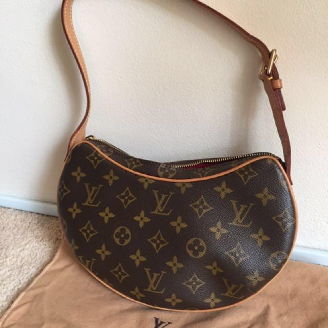 Authentic LOUIS VUITTON Pochette Croissant Shoulder Bag Monogram Canvas M51510