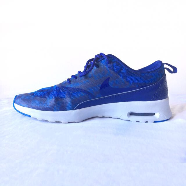 Authentic Nike AIR MAX THEA Deep Royal Blue KNIT JACQUARD