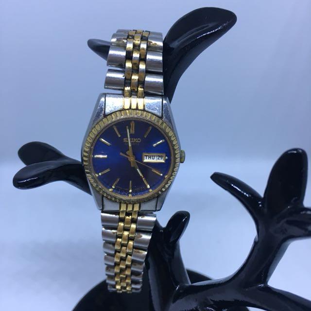 Authentic Seiko Ladies two-tone watch