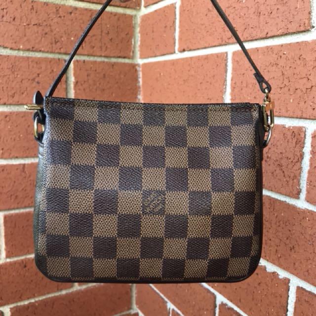 Authentic Used Louis Vuitton Damier Square Trousse Pochette Women S Fashion Bags Wallets On Carou